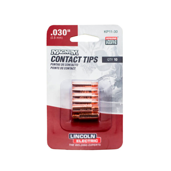 .030 contact tip for lincoln magnum 100l 10 pack